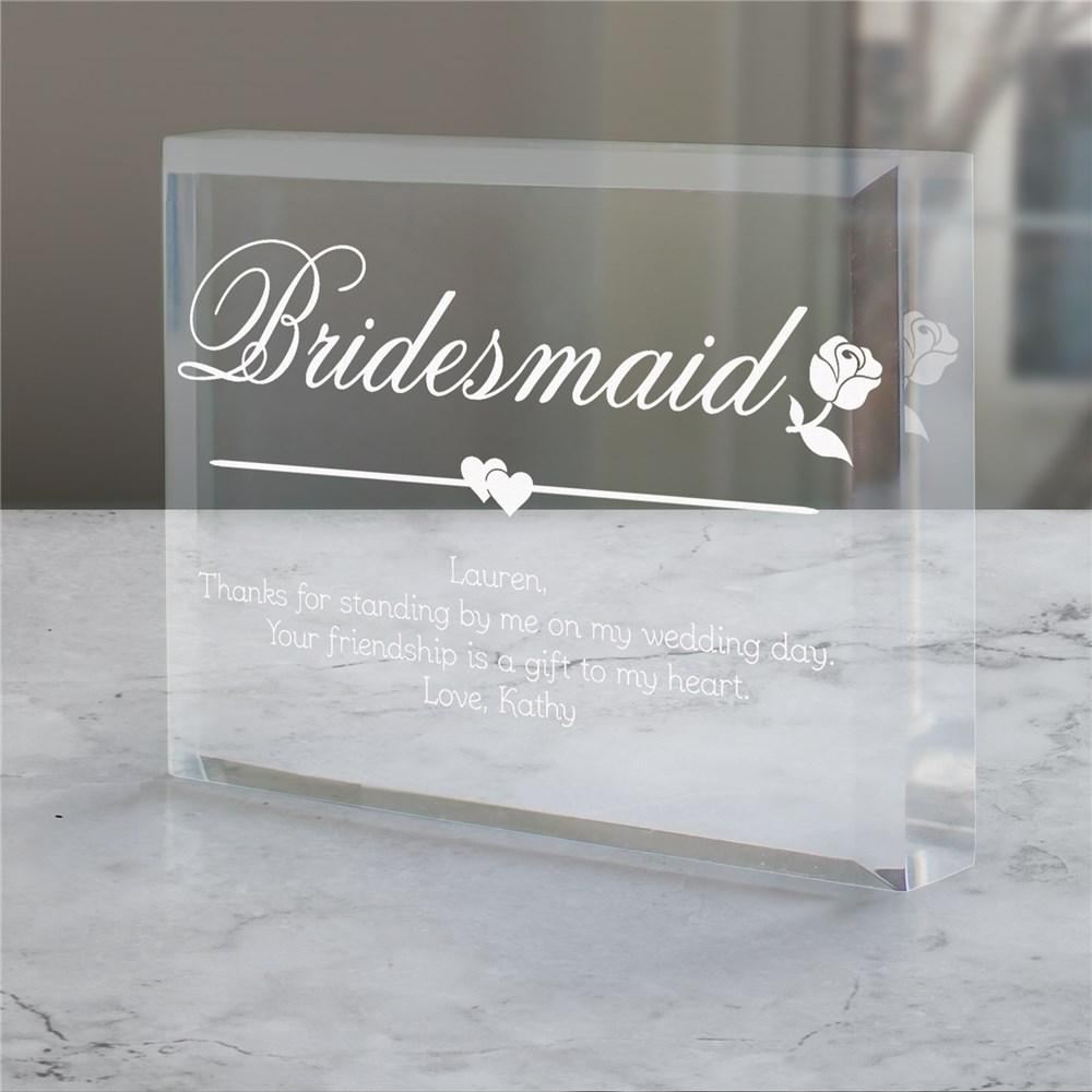 Personalized Bridesmaid Keepsake