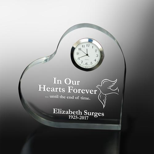 Personalized In Our Hearts Forever Memorial Heart Keepsake