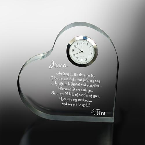 Personalized Engraved Anniversary Keepsake Clock