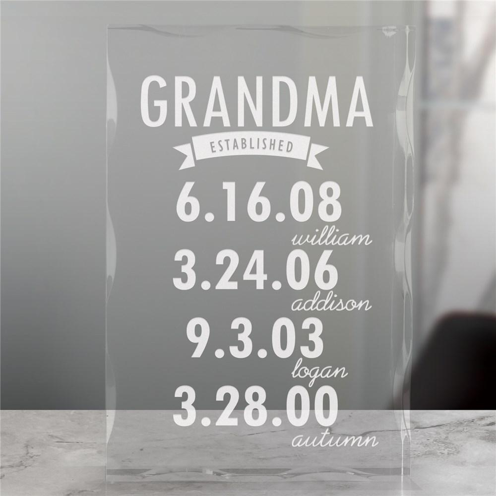 Personalized Engraved Mom Established Acrylic Keepsake