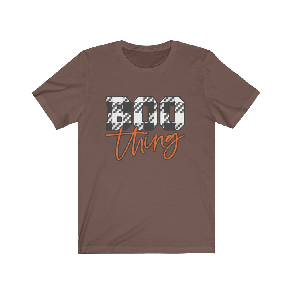 Boo Thing Buffalo Check Plaid Halloween T-Shirt - Short Sleeve Tee