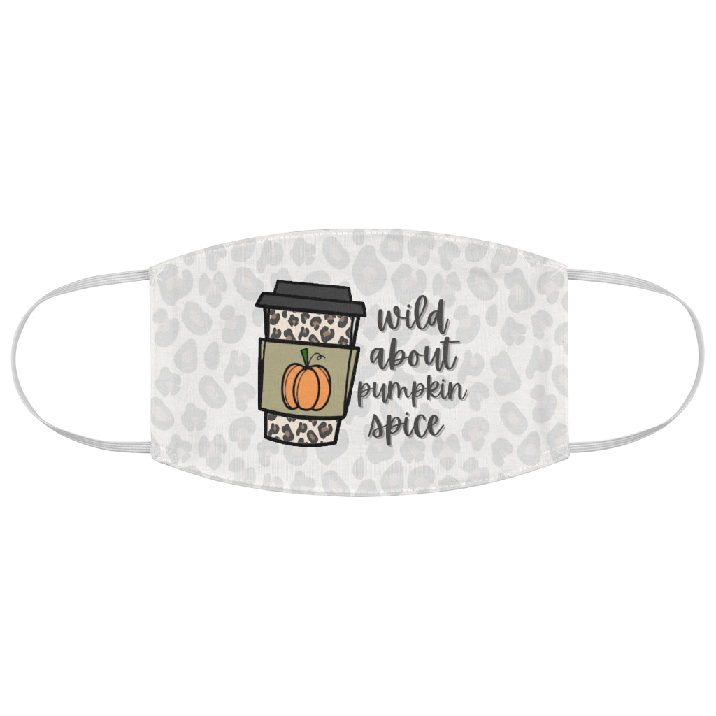 Wild About Pumpkin Spice Latte - PSL - Leopard Print - Fabric Face Mask