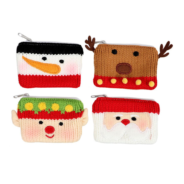 Knit Gift Card Coin Pouches