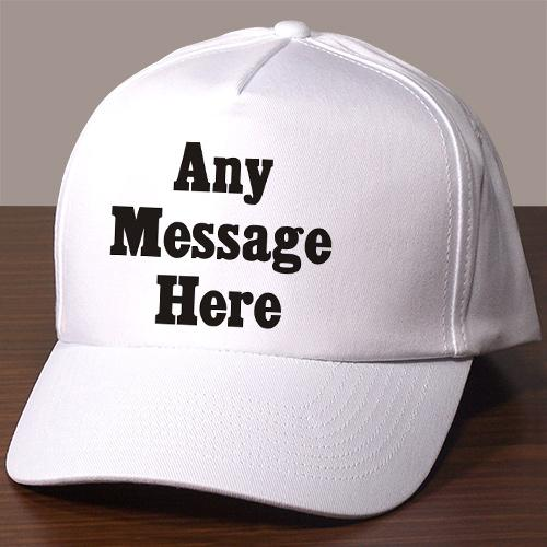 Personalized standard Message Hat