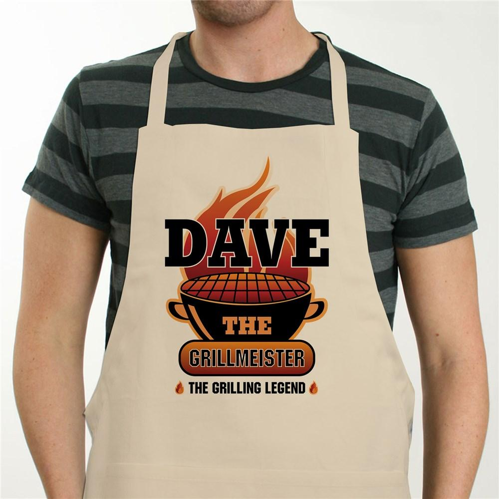 Personalized The Grillmeister Natural Apron