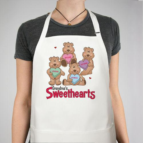Personalized Sweetheart Bear Valentine Apron - Valentine's Day Gift