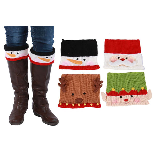 Christmas Character Knit Boot Covers
