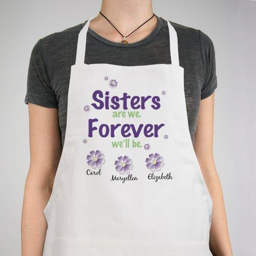 Personalized Sisters Forever Apron
