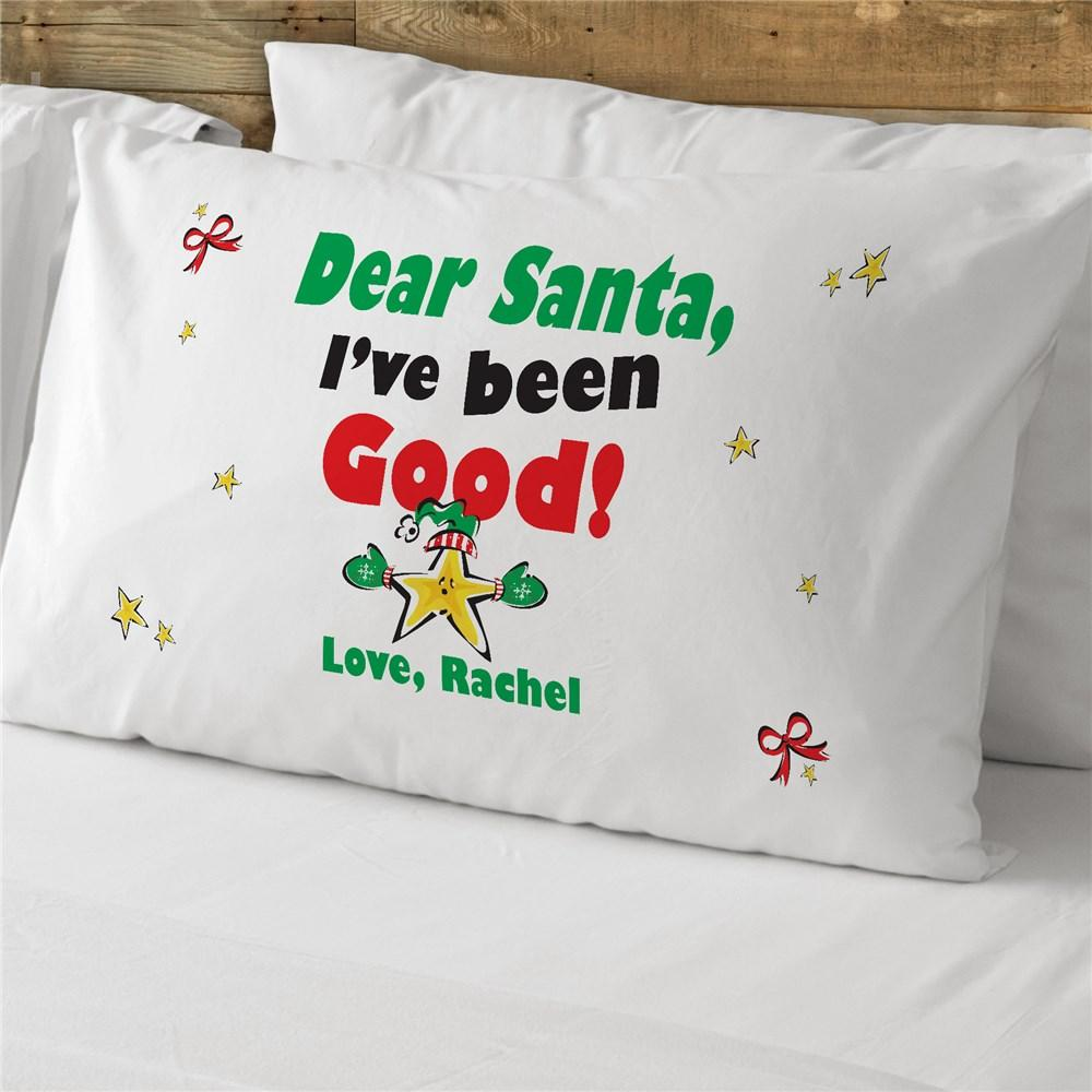 Personalized Dear Santa Pillowcase