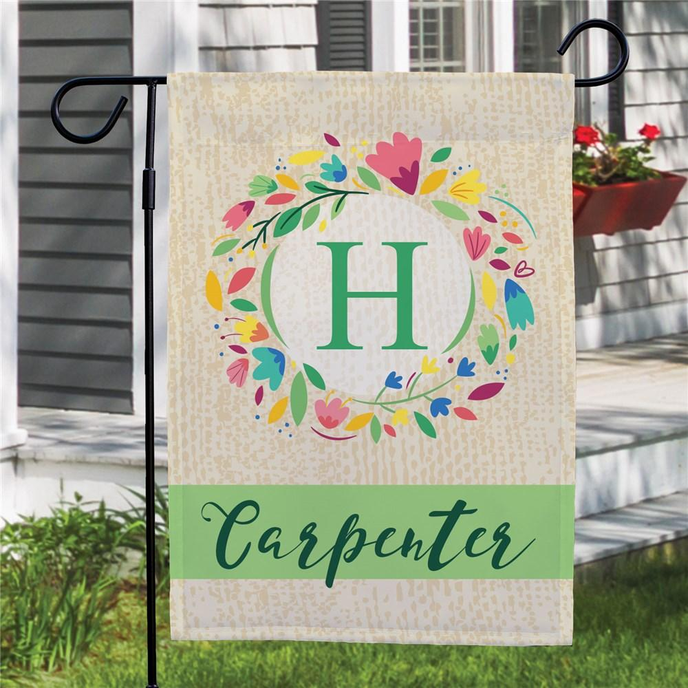 Personalized Colorful Floral Garden Flag