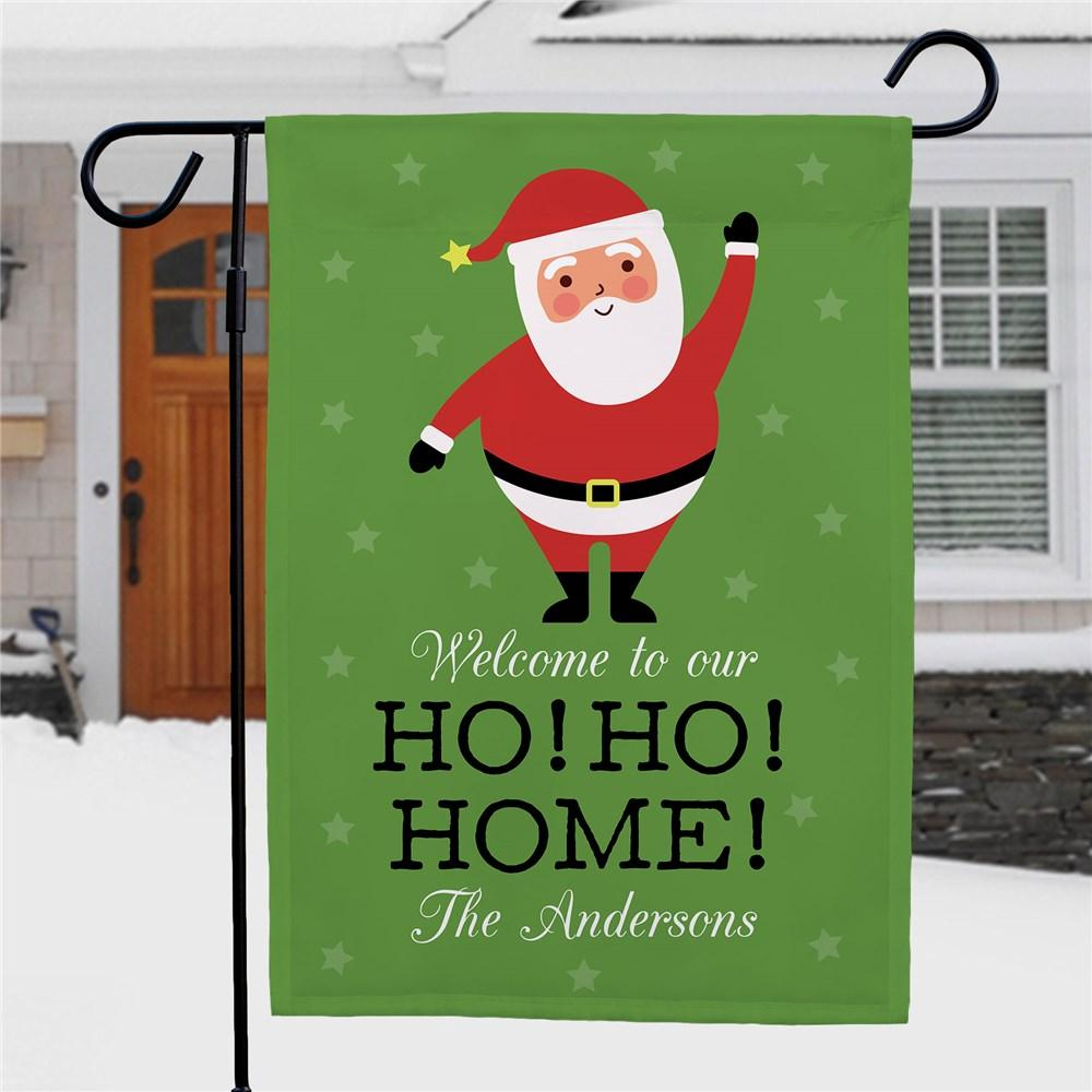 Personalized Ho Ho Home Garden Flag