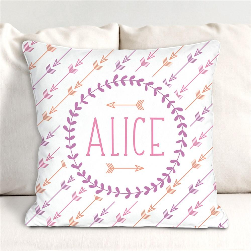 Personalized Arrows Throw Pillow - Valentine's Day Gift