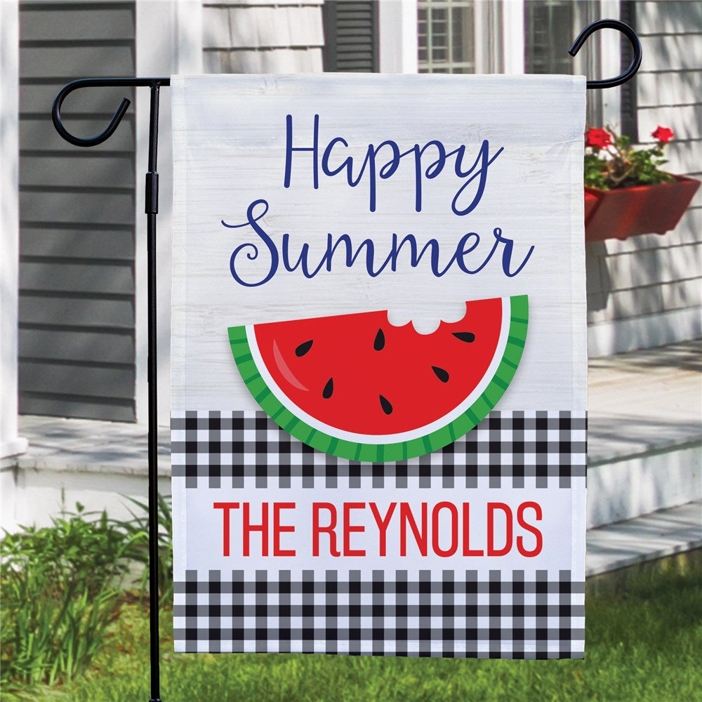 Personalized Happy Summer Garden Flag