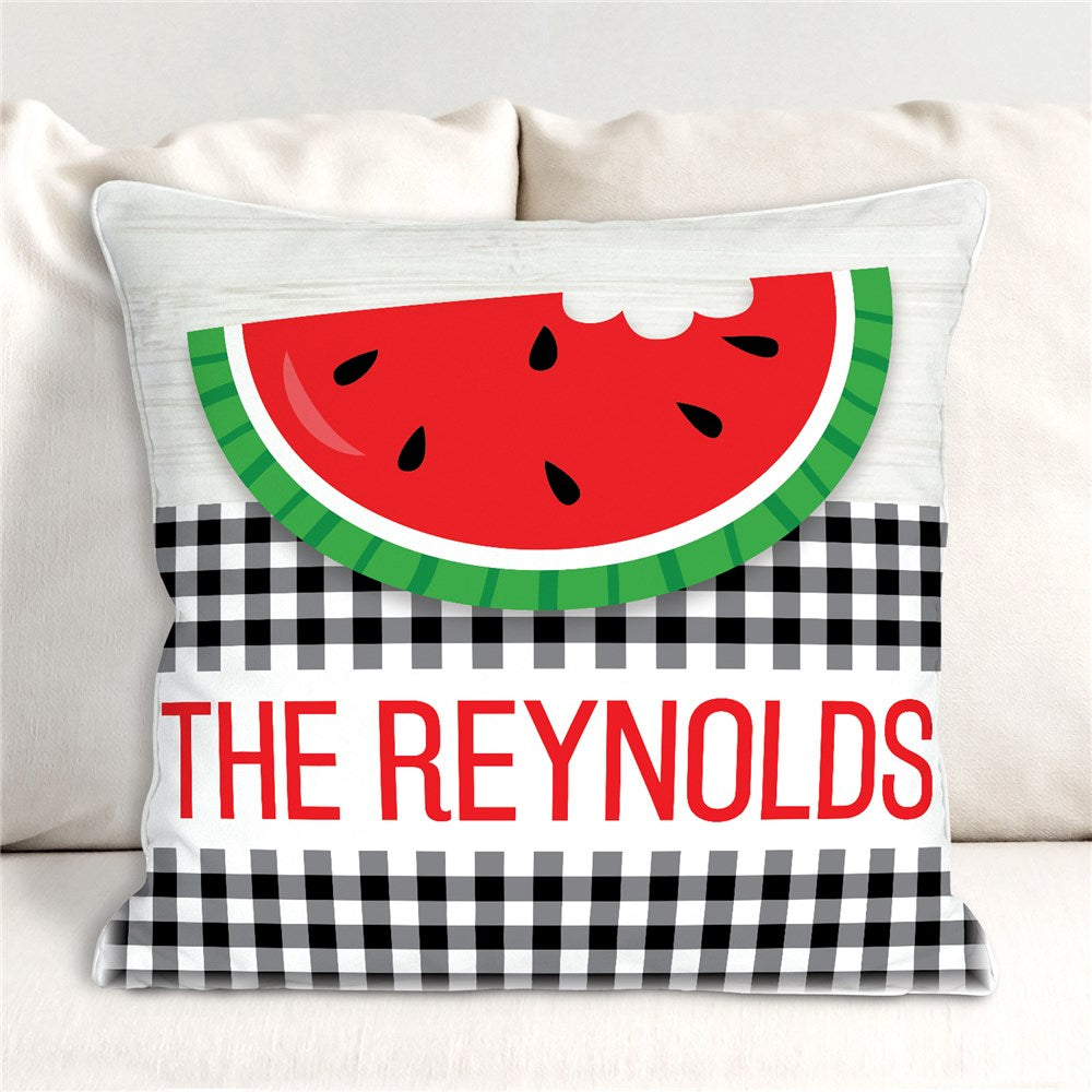 Personalized Happy Summer Throw Pillow
