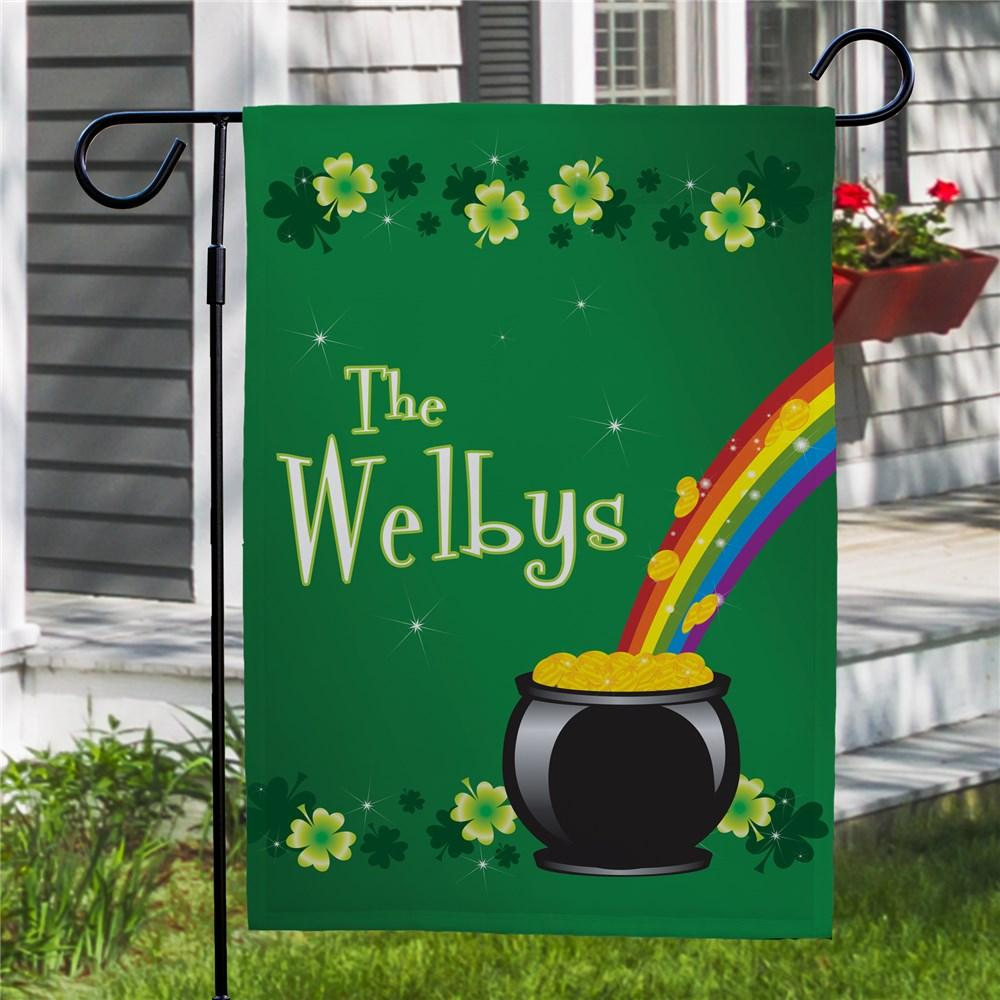 Personalized Irish Rainbow Garden Flag