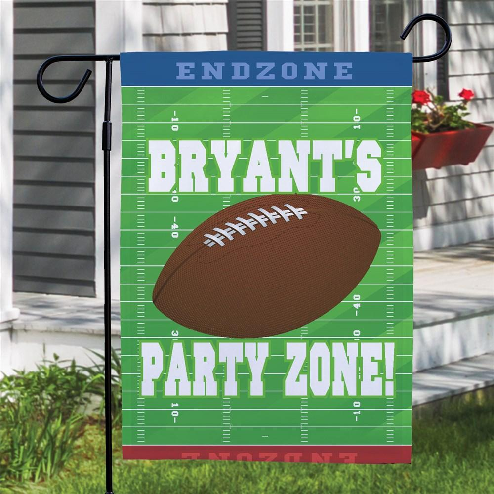 Personalized Football Party Zone Garden Flag