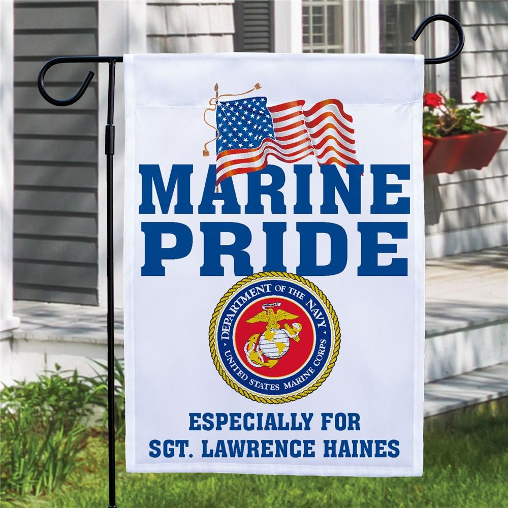 Personalized Military Pride Garden Flag