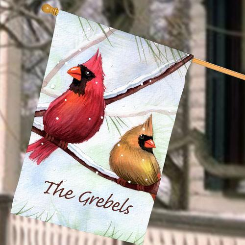 Personalized Cardinals House Flag