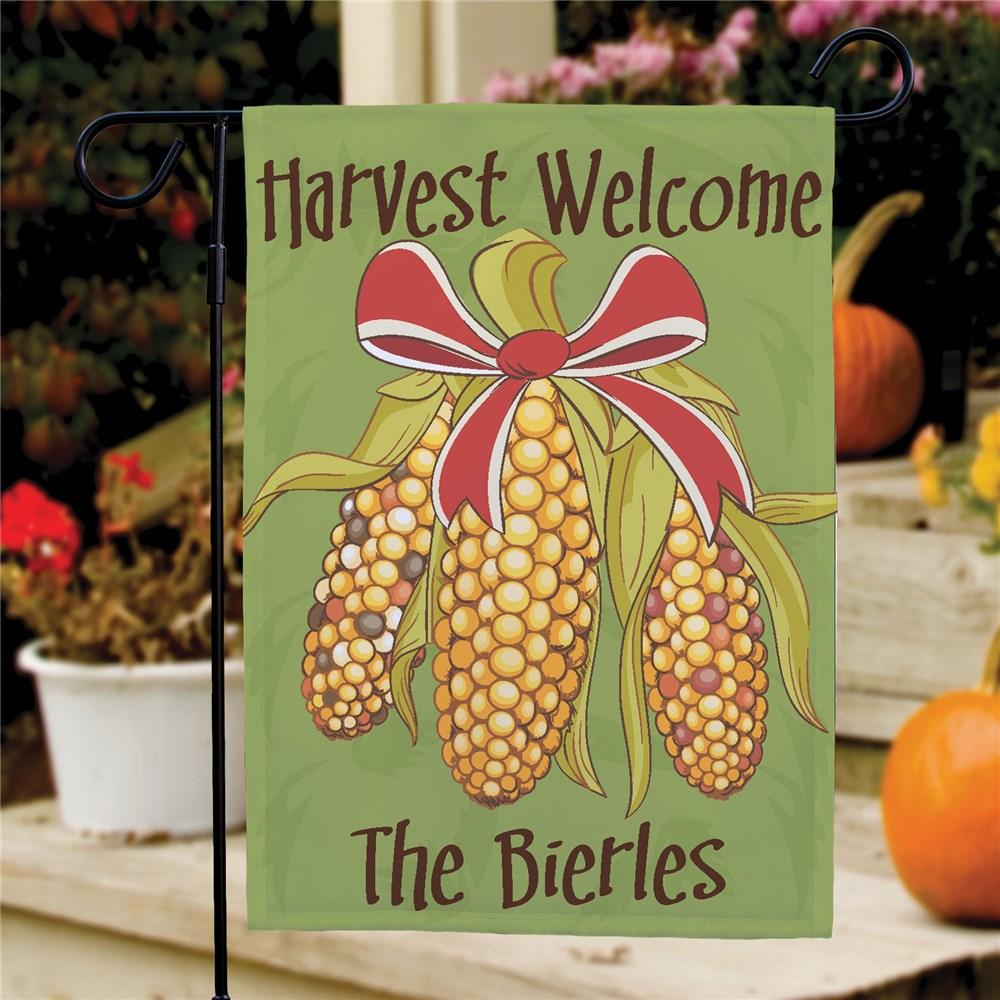 Personalized Fall Harvest Garden Flag