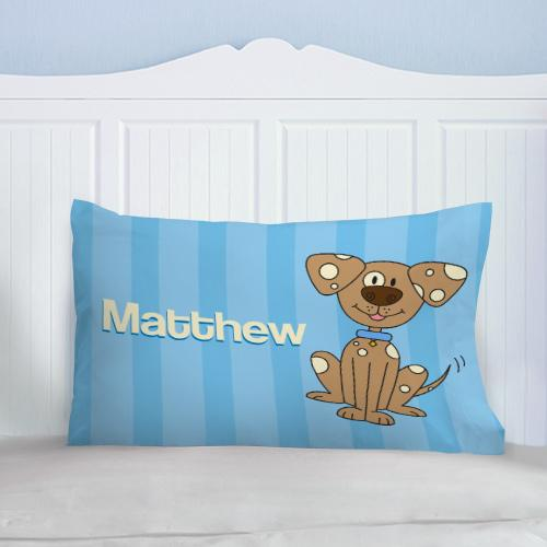 Personalized Youth Pillow - Puppy Design
