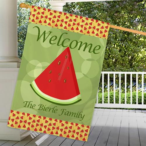 Personalized Watermelon House Flag