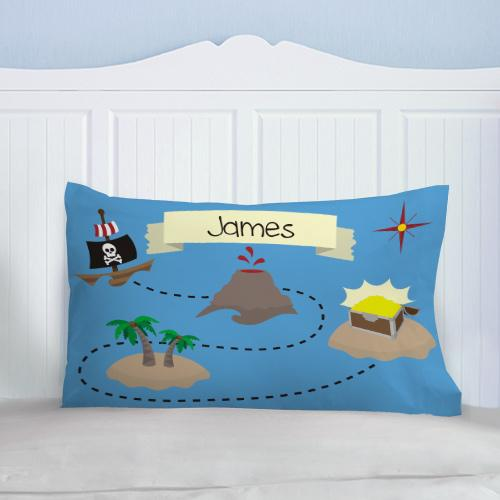 Personalized Pirates Treasure Map Pillow