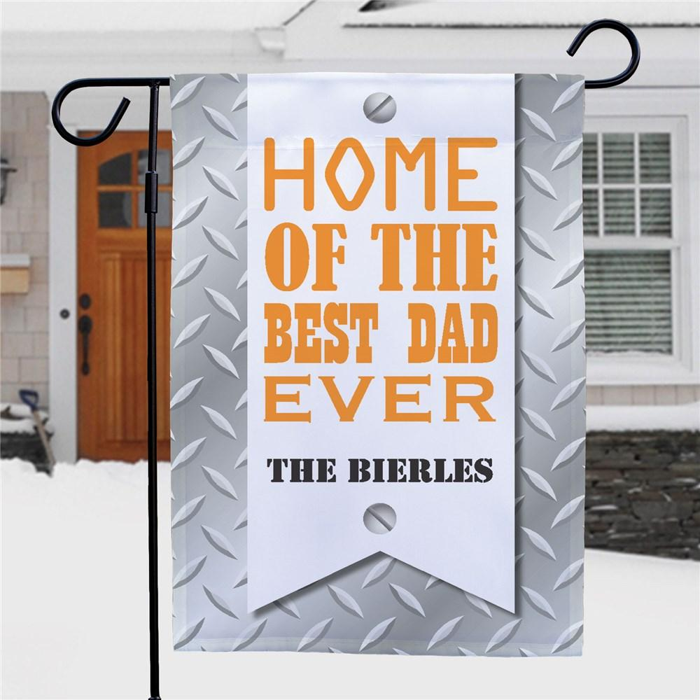 Personalized Best Dad Garden Flag