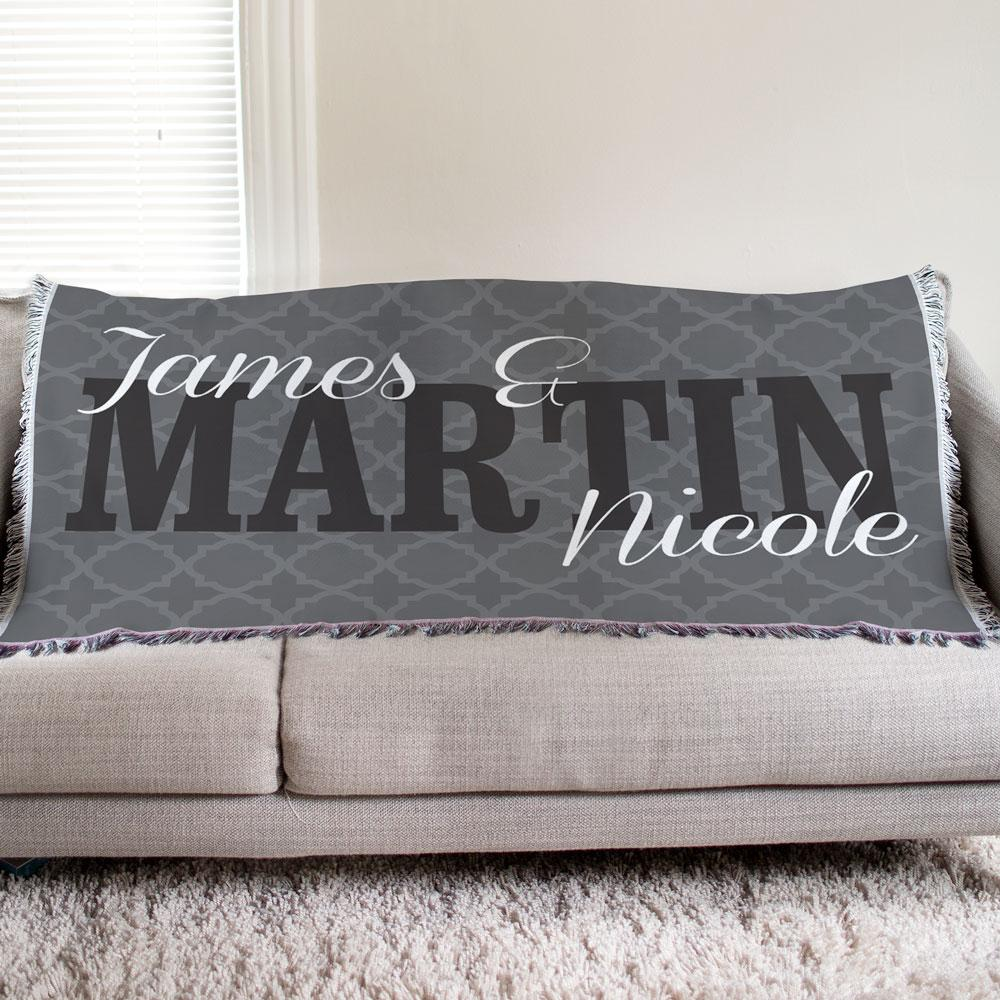 Personalized Couple's Tapestry Throw - Valentine's Day Gift