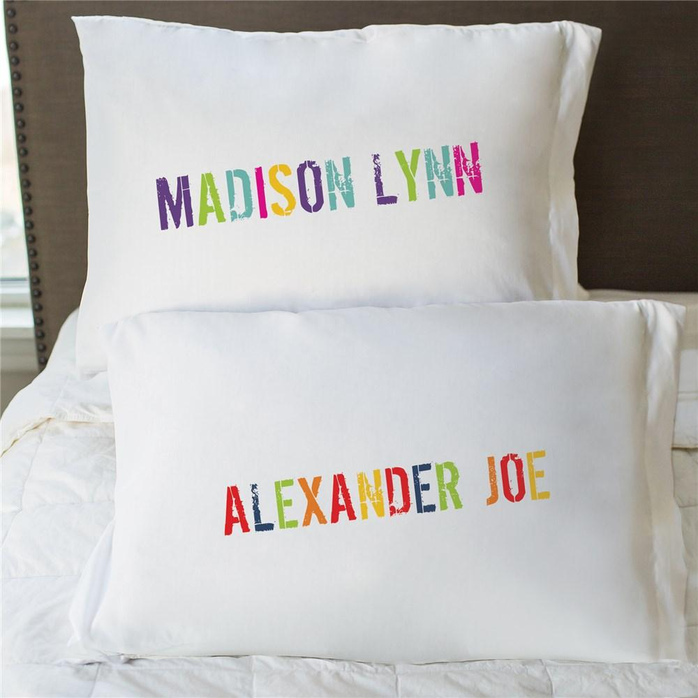 Personalized Colorful Name Pillowcase