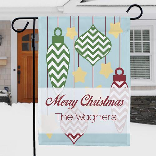 Personalized Christmas Ornament Welcome Garden Flag