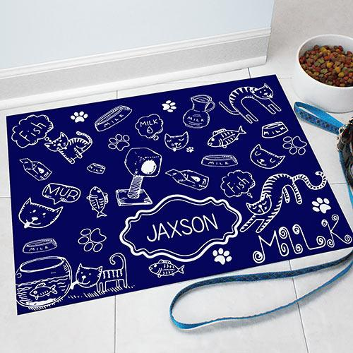 Personalized Cat Love Pet Mat
