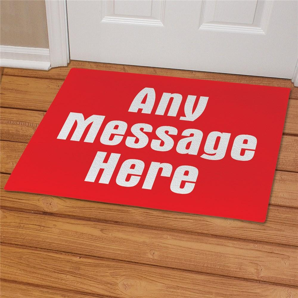 Personalized Any Message  Doormat