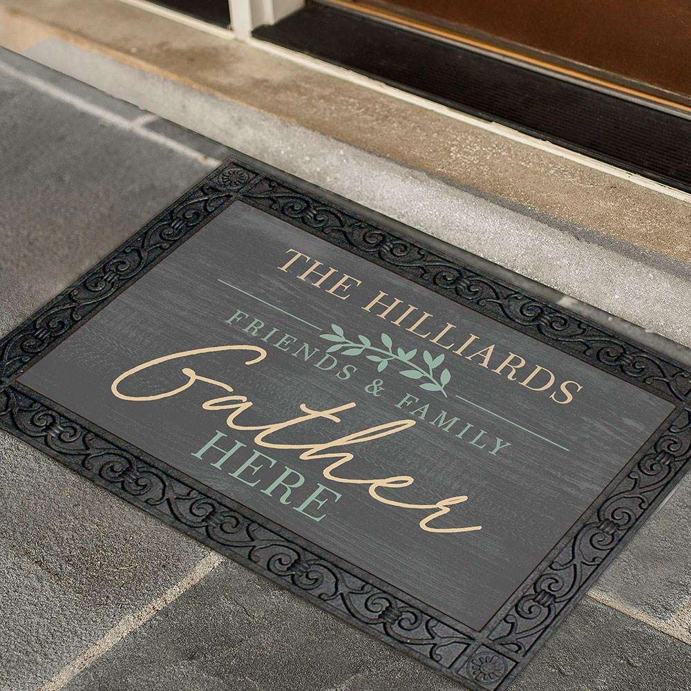 Personalized Friends & Family Gather Doormat
