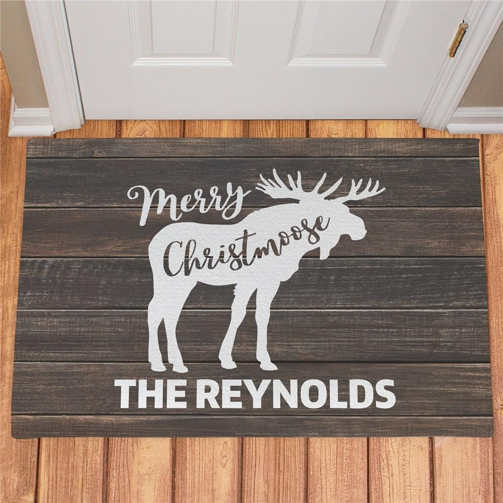 Personalized Merry Christmoose Doormat