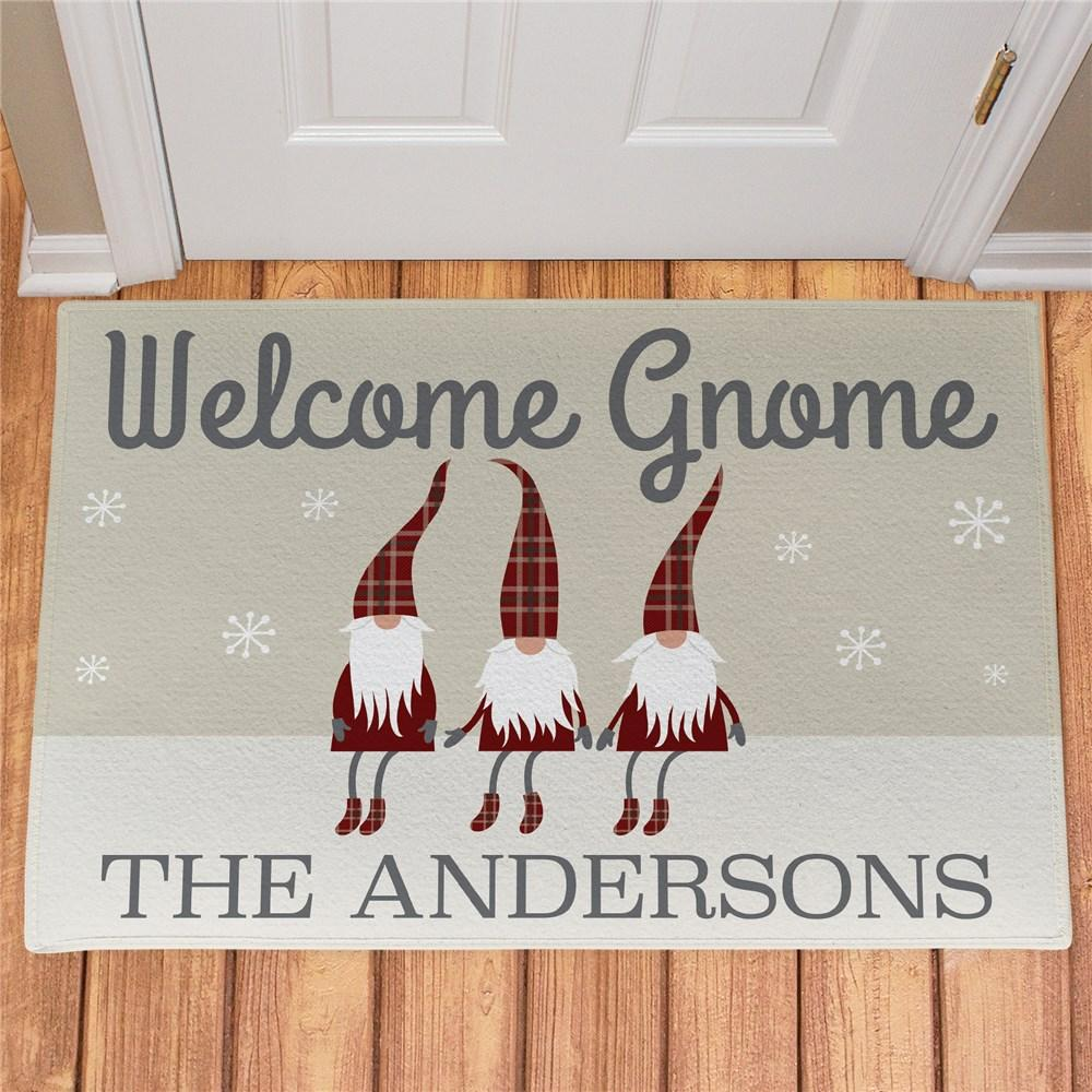 Personalized Welcome Gnome Doormat