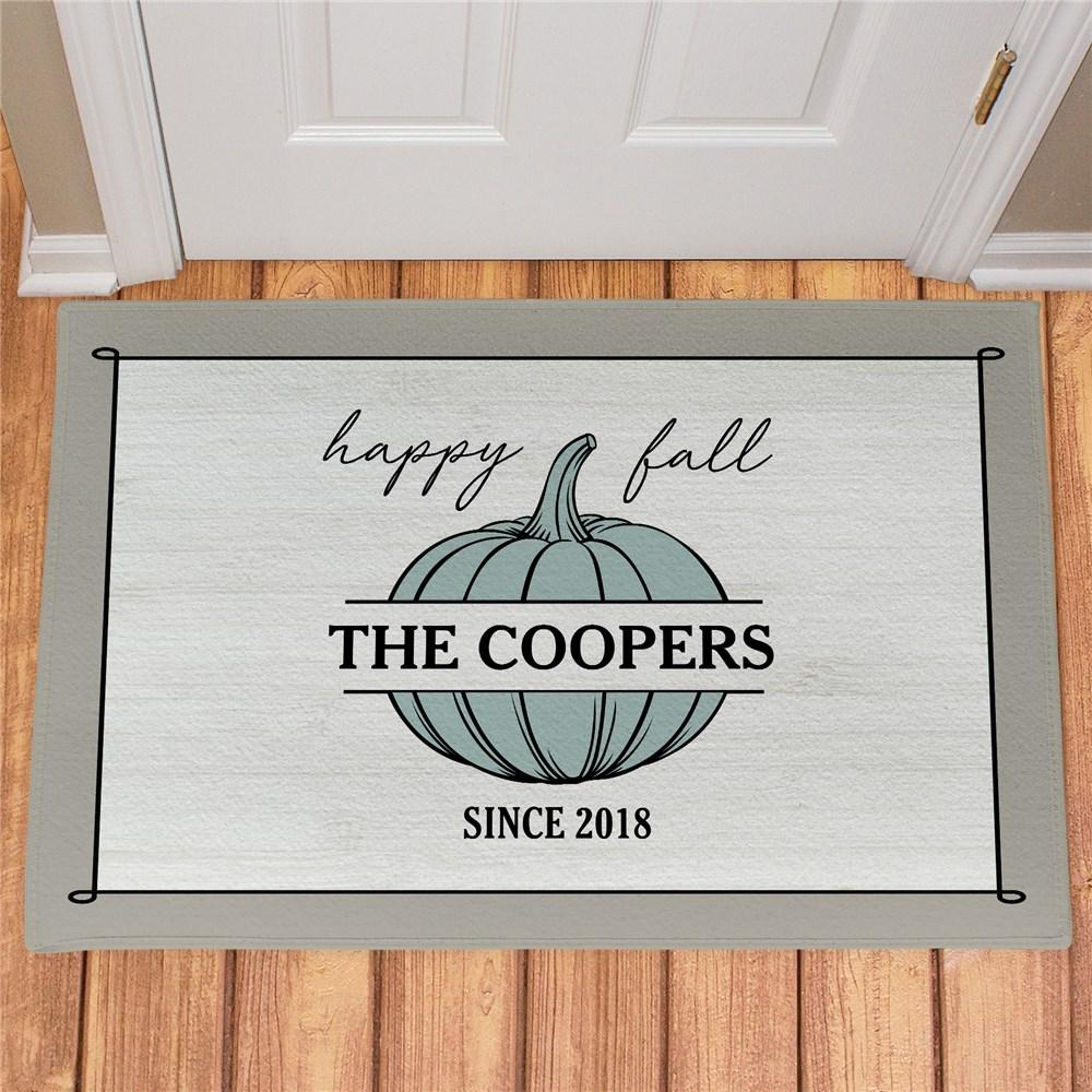 Personalized Happy Fall Doormat