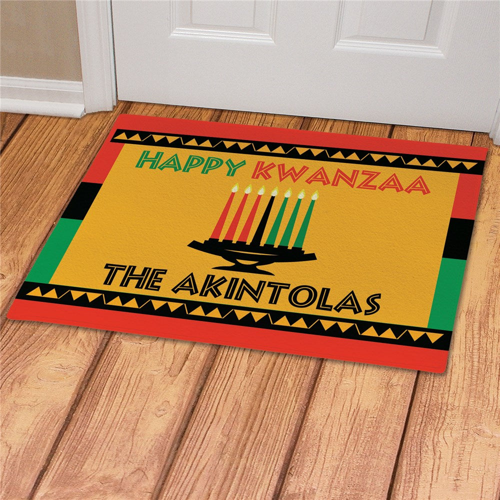 Personalized Happy Kwanzaa Doormat