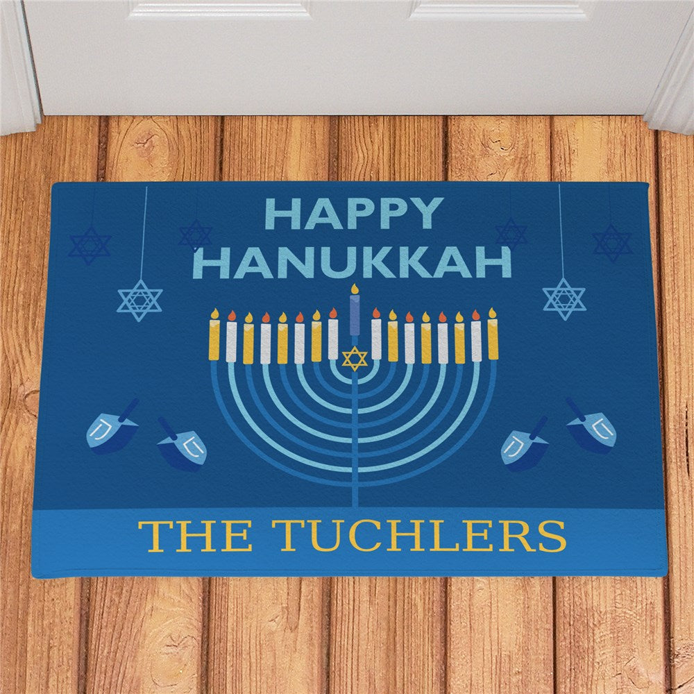 Personalized Happy Hanukkah Doormat