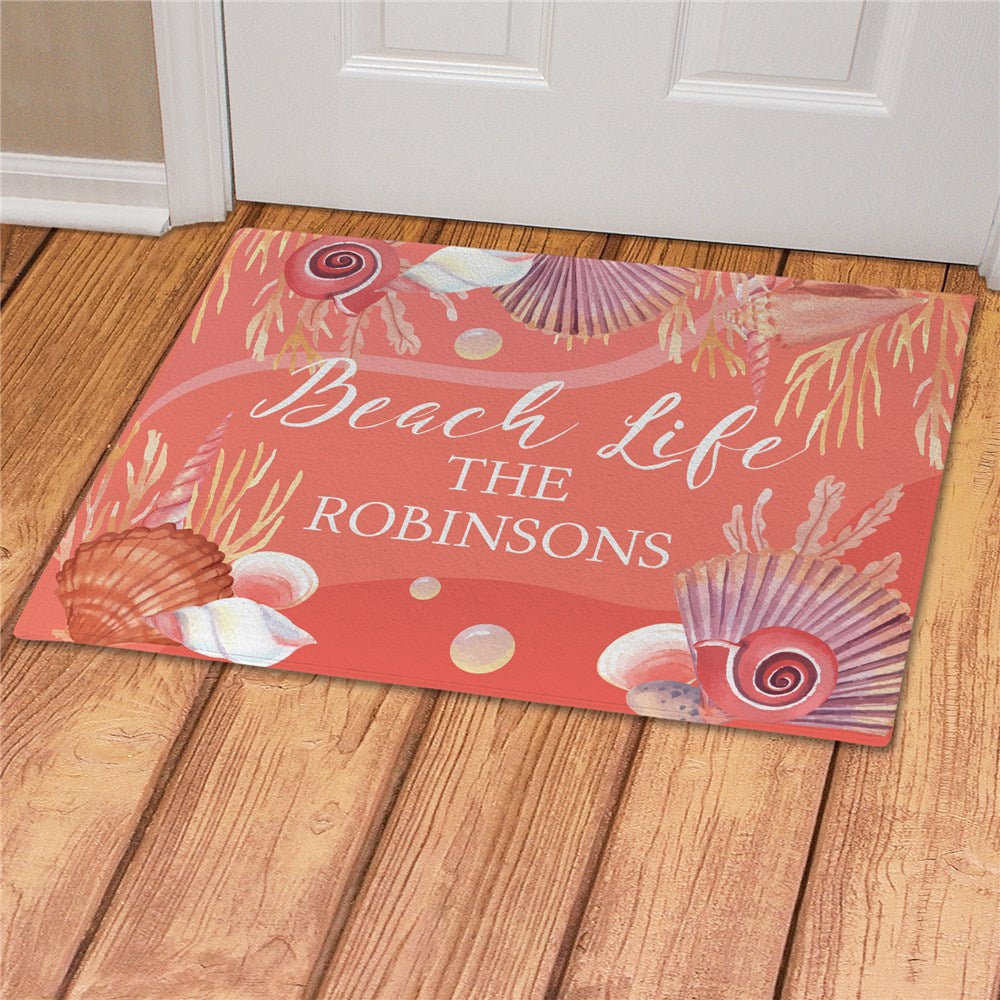 Personalized Beach Life Doormat