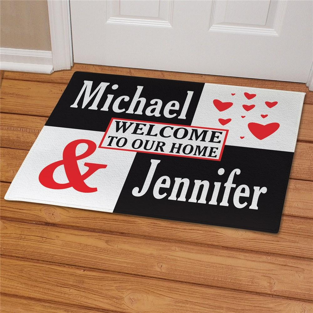 Personalized Couple's Love Doormat - Valentine's Day Gift