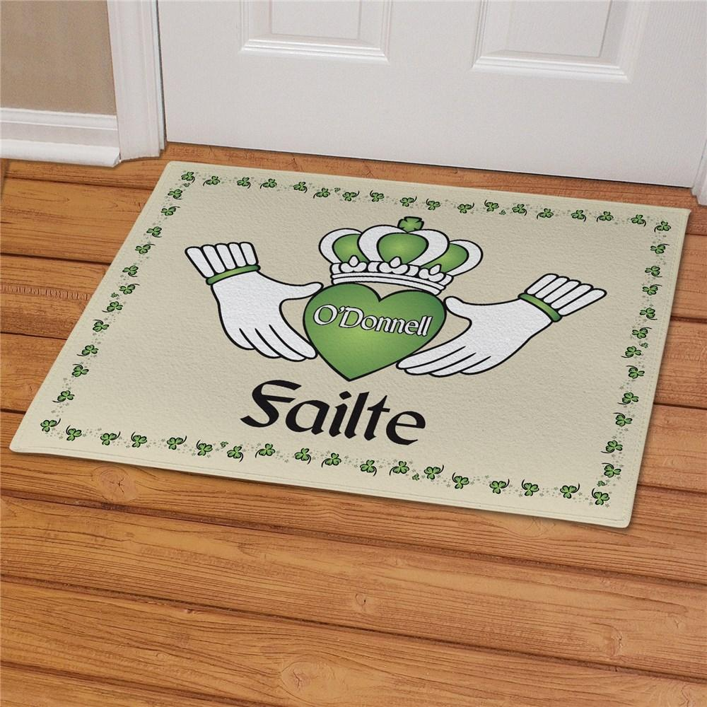 Personalized Failte Irish Doormat