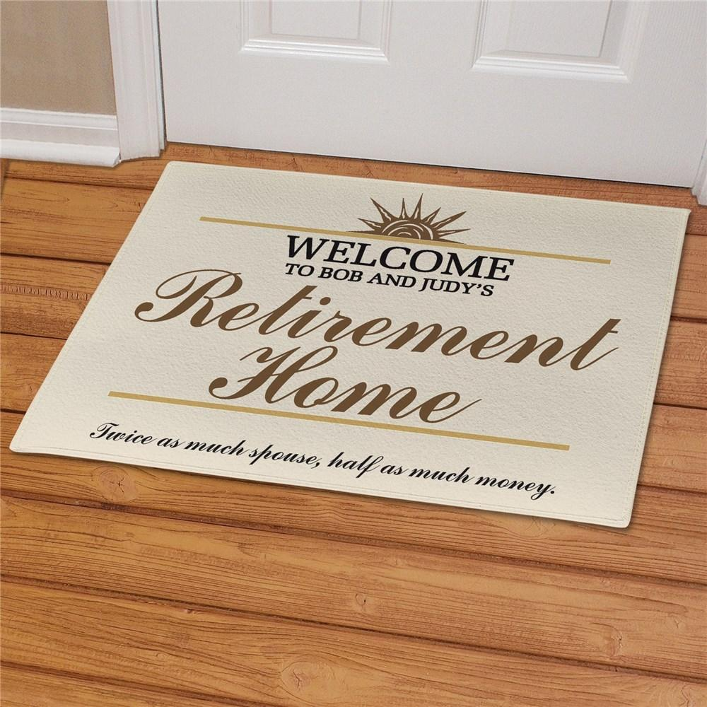 Personalized Retirement Home Doormat