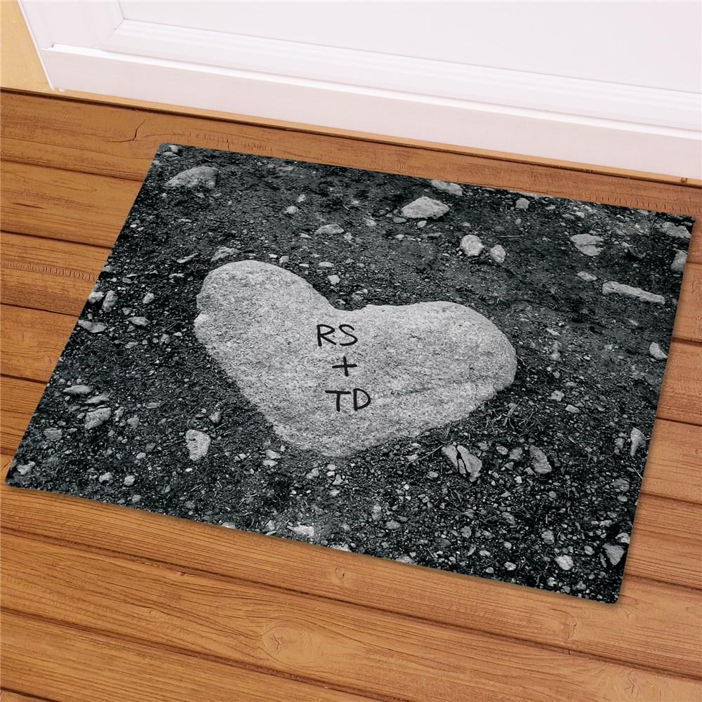 Personalized Heart Of Stone Doormat