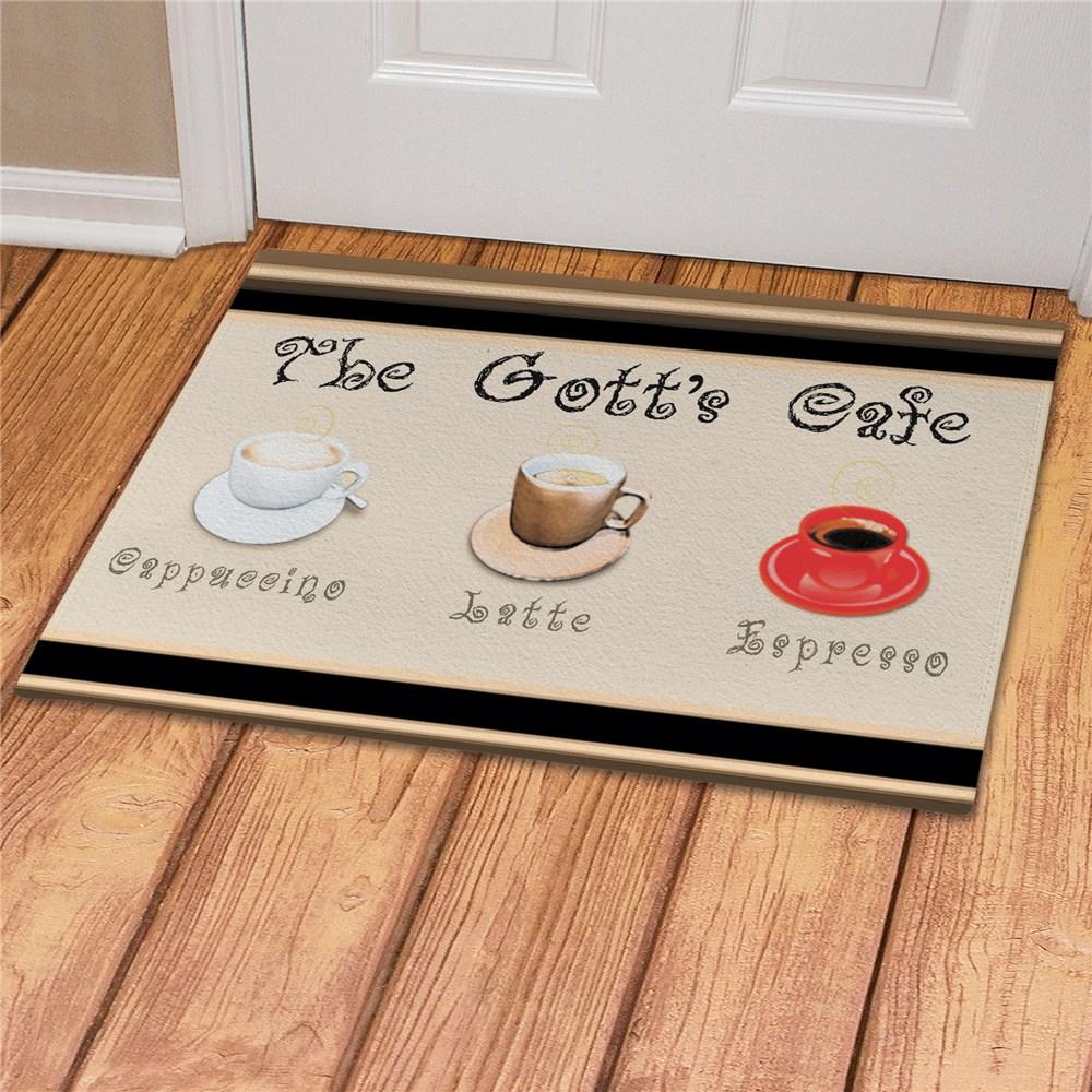 Personalized Cafe Personalized Kitchen Door Mat