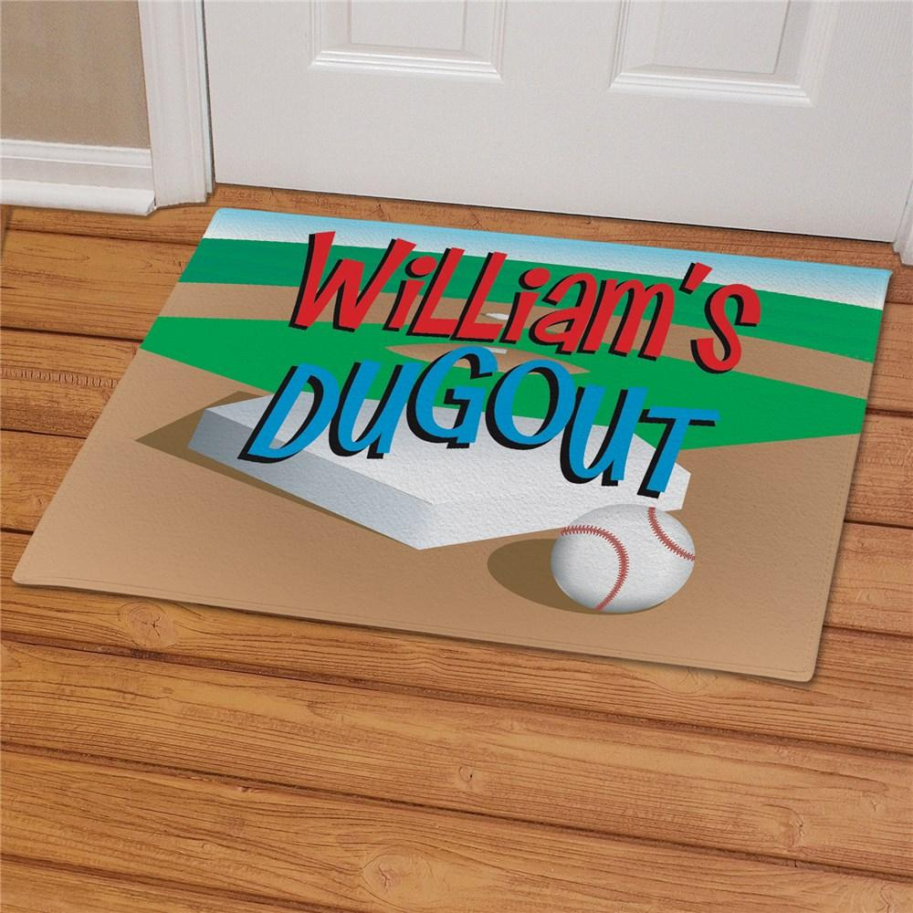 Personalized Baseball Dugout Doormat