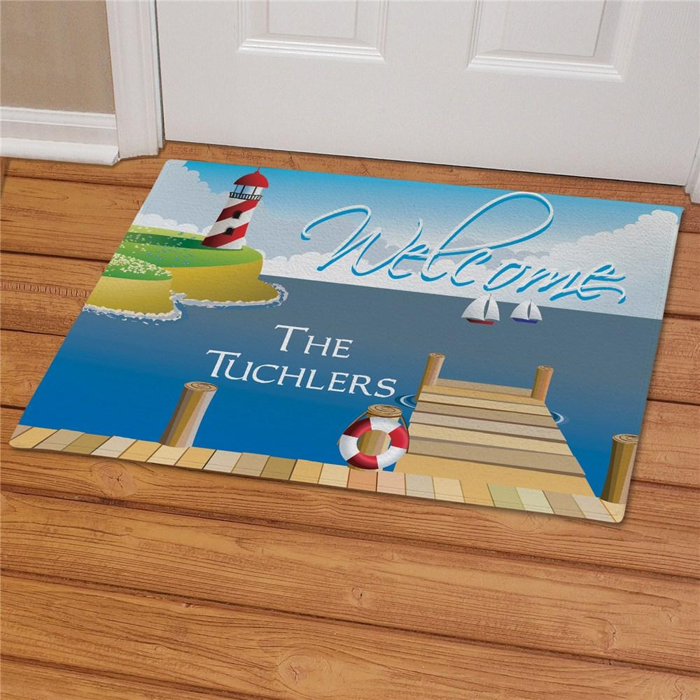 Personalized Lake House Custom Doormat