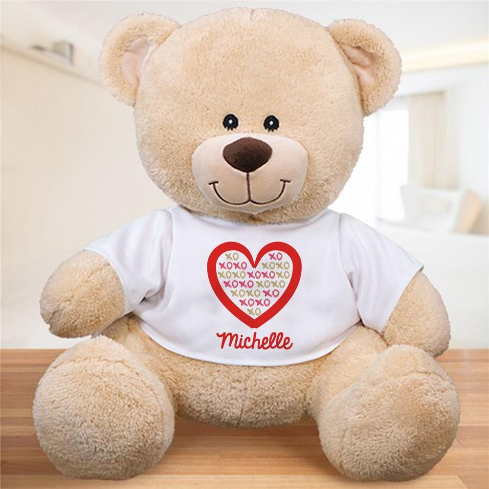 Personalized Xoxo Heart Sherman Bear - Valentine's Day Gift