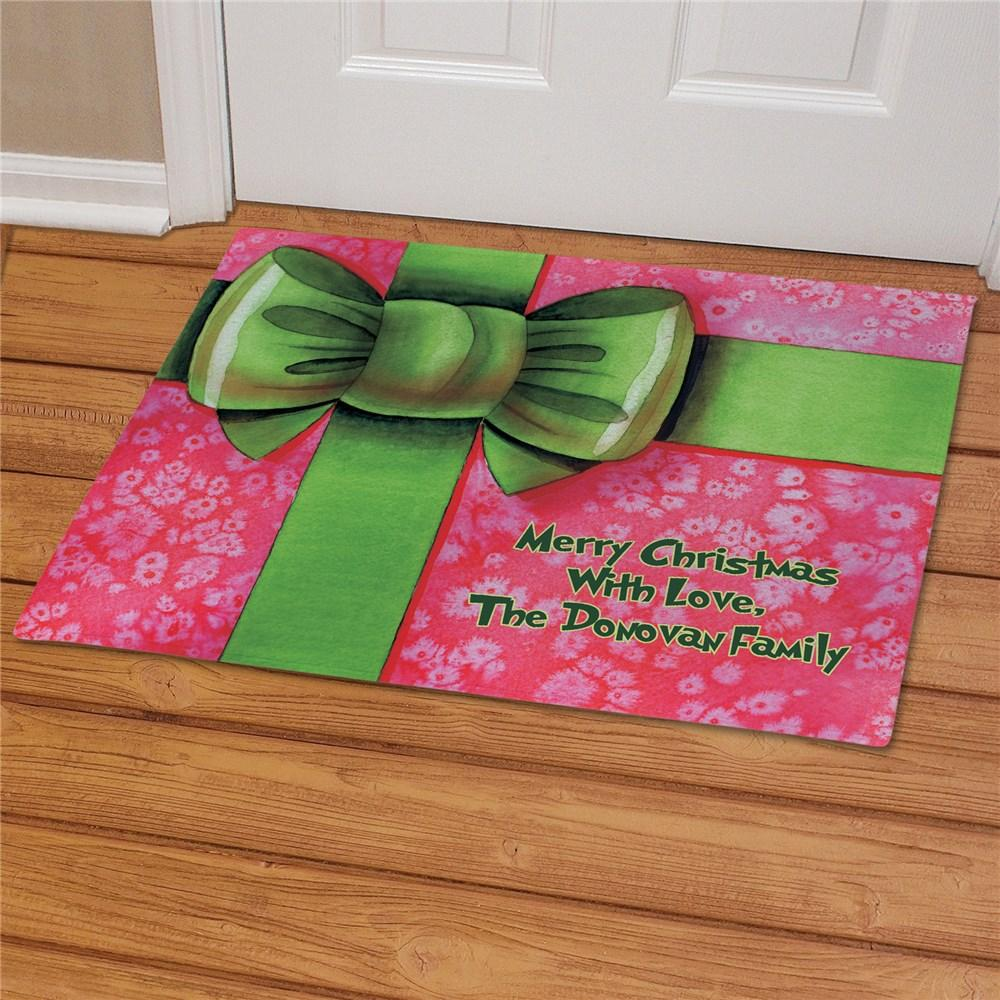 Personalized Christmas Present Doormat