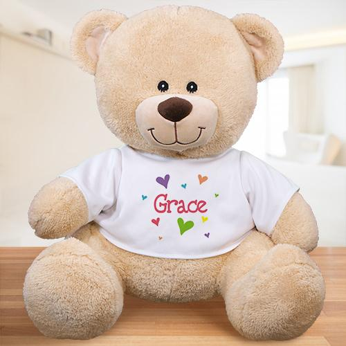 Personalized Lots Of Hearts Teddy - Valentine's Day Gift