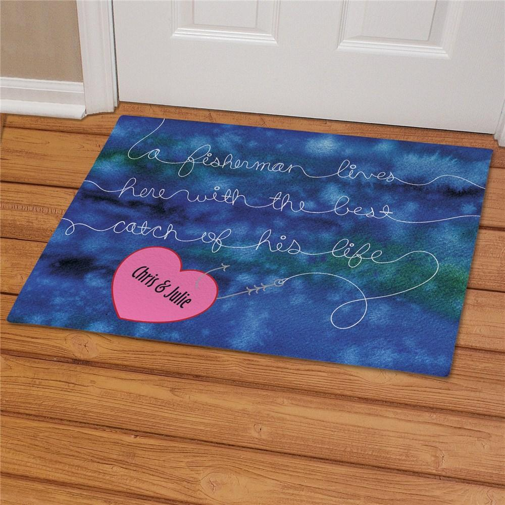 Personalized Best Catch Fisherman Doormat